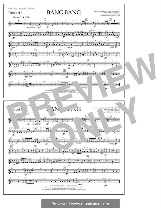 Bang Bang (Green Day): Trumpet 3 part by Billie Joe Armstrong, Tré Cool, Mike Dirnt