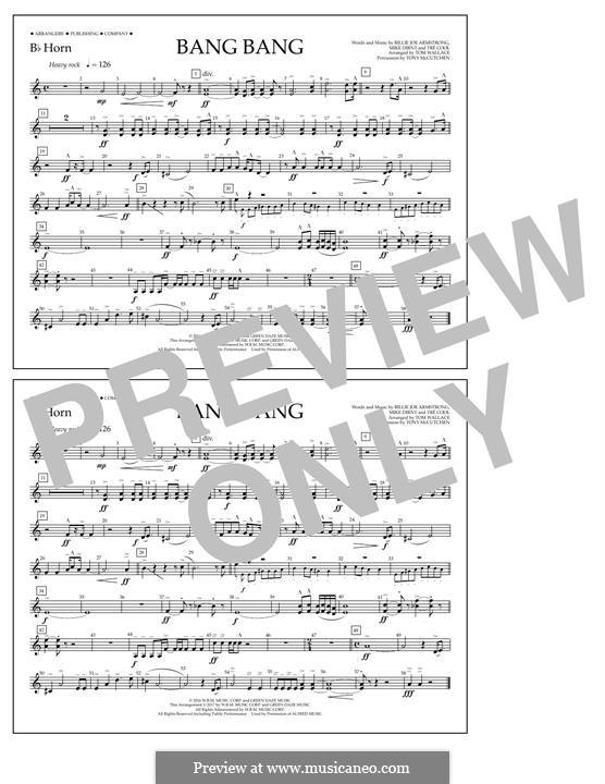 Bang Bang (Green Day): Bb Horn part by Billie Joe Armstrong, Tré Cool, Mike Dirnt
