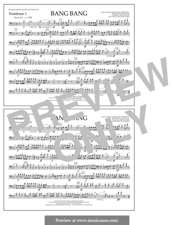 Bang Bang (Green Day): Trombone 1 part by Billie Joe Armstrong, Tré Cool, Mike Dirnt