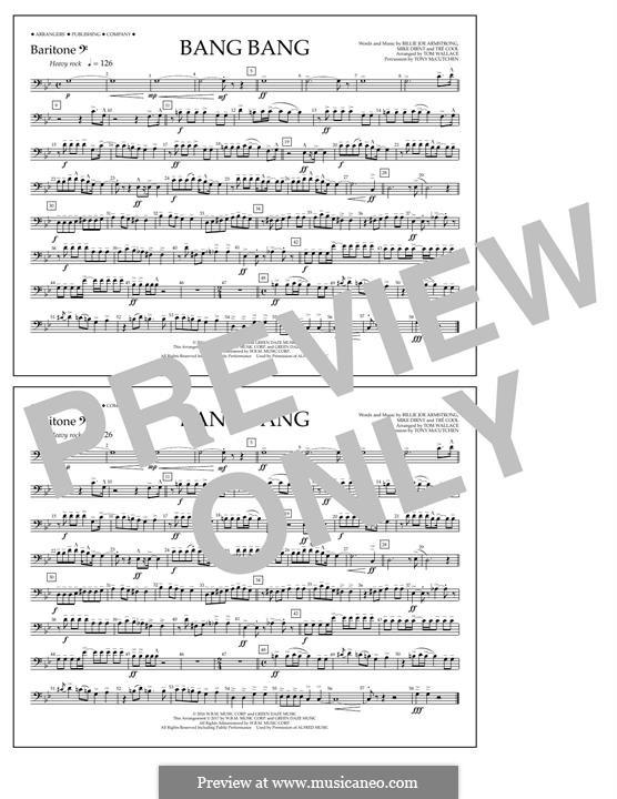 Bang Bang (Green Day): Baritone B.C. part by Billie Joe Armstrong, Tré Cool, Mike Dirnt