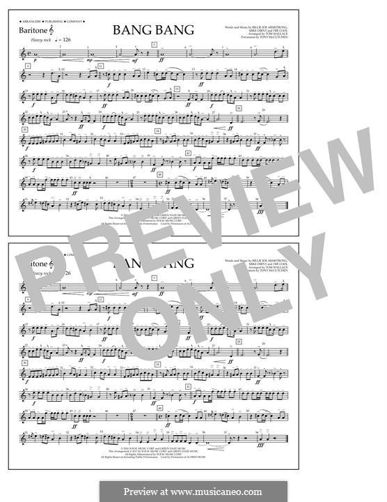 Bang Bang (Green Day): Baritone T.C. part by Billie Joe Armstrong, Tré Cool, Mike Dirnt