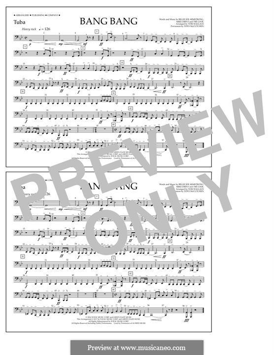 Bang Bang (Green Day): Tuba part by Billie Joe Armstrong, Tré Cool, Mike Dirnt