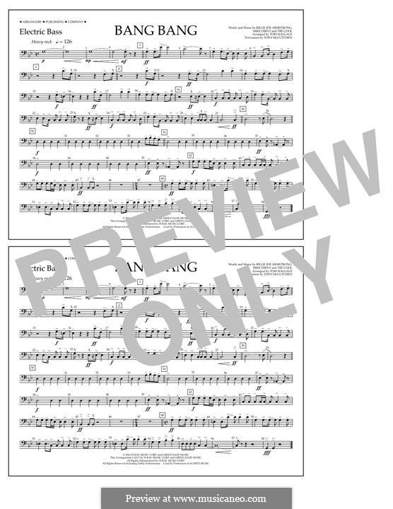Bang Bang (Green Day): Electric Bass part by Billie Joe Armstrong, Tré Cool, Mike Dirnt