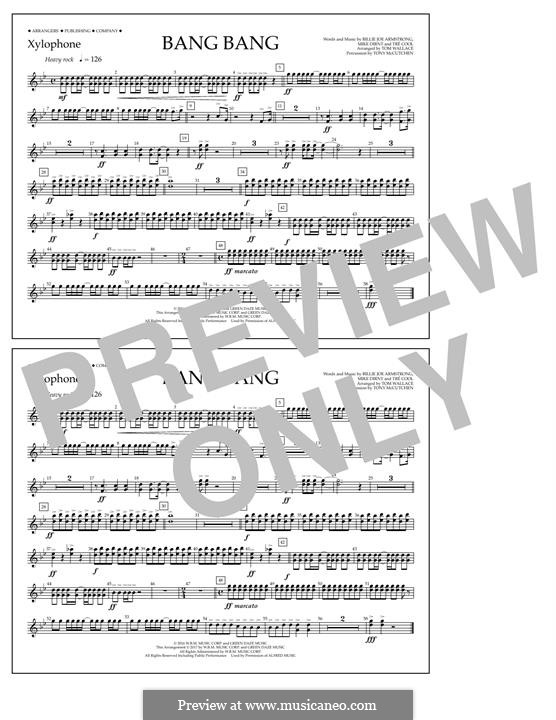 Bang Bang (Green Day): Xylophone part by Billie Joe Armstrong, Tré Cool, Mike Dirnt