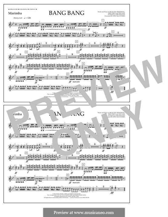 Bang Bang (Green Day): Marimba part by Billie Joe Armstrong, Tré Cool, Mike Dirnt