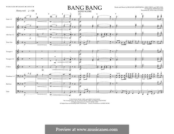Bang Bang (Green Day): Wind Score by Billie Joe Armstrong, Tré Cool, Mike Dirnt