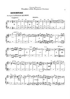 La fille du régiment (The Daughter of the Regiment): Overture – Bassoons part by Gaetano Donizetti