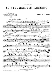 Poèmes grecs for Flute and Piano: Solo part by Albert Doyen