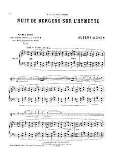 Poèmes grecs for Flute and Piano: Score by Albert Doyen