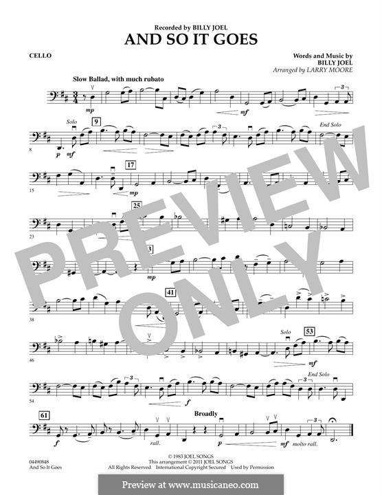 And So It Goes: Cello part by Billy Joel