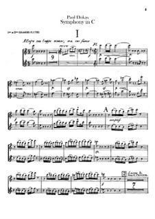 Symphony in C Major: Flutes parts by Paul Dukas