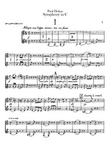 Symphony in C Major: French horns III-IV parts by Paul Dukas