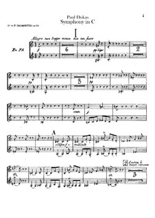 Symphony in C Major: Trumpets parts by Paul Dukas