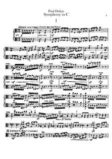 Symphony in C Major: Violas part by Paul Dukas