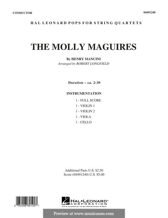 The Molly Maguires: For strings – Full Score by Henry Mancini