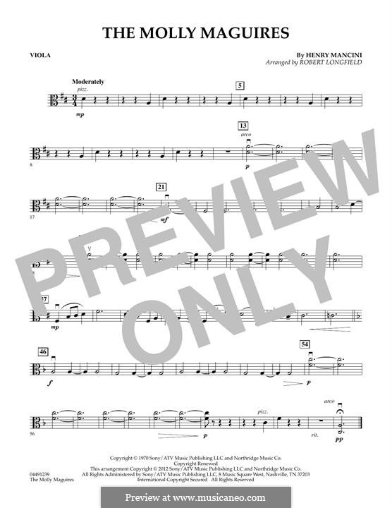 The Molly Maguires: For strings – Viola part by Henry Mancini