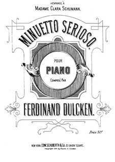 Minuetto serioso for Piano: Minuetto serioso for Piano by Ferdinand Dulcken