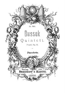 Piano Quintet in F Minor, Op.41 Craw 172: Piano Quintet in F Minor by Jan Ladislav Dussek