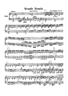 Grand Sonata for Piano Four Hands, Op.48 Craw 186: Grand Sonata for Piano Four Hands by Jan Ladislav Dussek