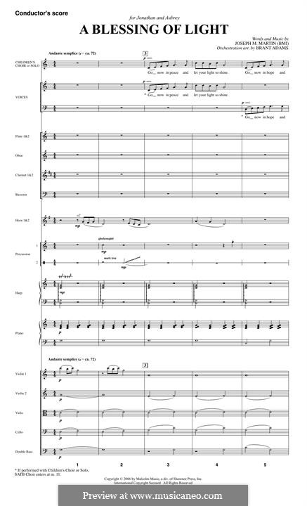 A Blessing of Light: Score by Joseph M. Martin