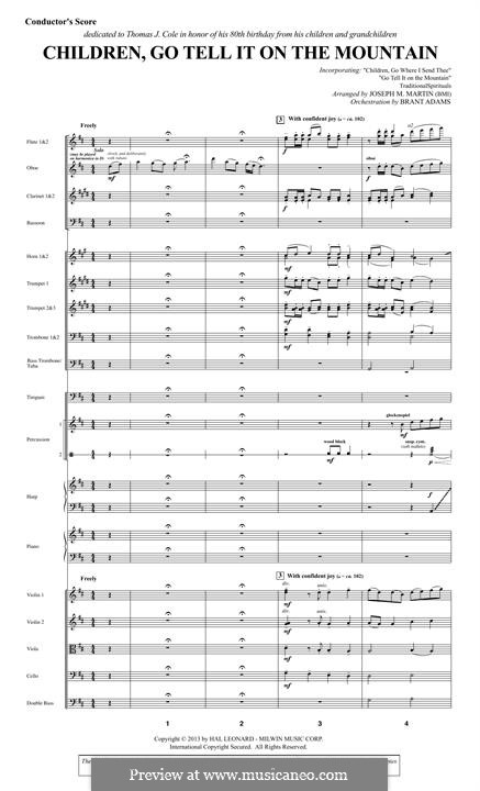 Children, Go Tell It on the Mountain: Full Score by folklore