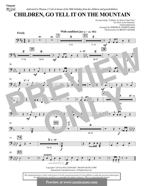 Children, Go Tell It on the Mountain: Timpani part by folklore