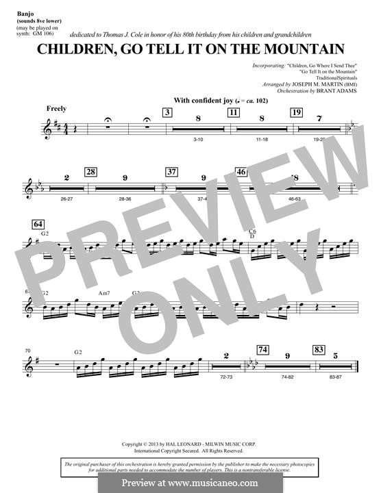 Children, Go Tell It on the Mountain: Banjo part by folklore