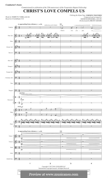 Christ's Love Compels Us: Score by David Schwoebel