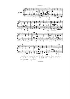 Choix de chorals: Choral No.41 by Johann Sebastian Bach