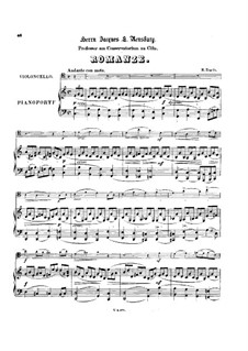 Romance for Cello and Piano: Score by Hubert Engels
