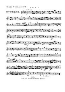 Reges Tharsis et insulae munera, HV 107: Oboe I part by Joseph Eybler