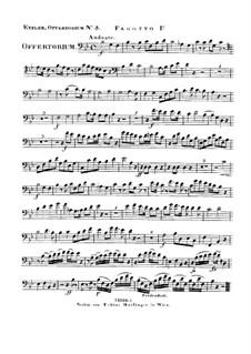 Reges Tharsis et insulae munera, HV 107: Bassoon I part by Joseph Eybler