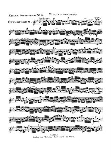 Reges Tharsis et insulae munera, HV 107: Violin II part by Joseph Eybler