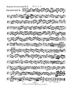 Reges Tharsis et insulae munera, HV 107: Viola part by Joseph Eybler