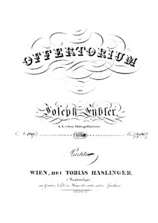Reges Tharsis et insulae munera, HV 107: Full score by Joseph Eybler