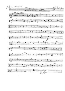 Reges Tharsis et insulae munera, HV 107: Trombone alto part by Joseph Eybler
