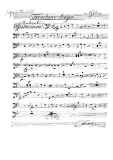 Reges Tharsis et insulae munera, HV 107: Trombone basso part by Joseph Eybler