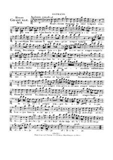 Benedicam Dominum, HV 55: Soprano part by Joseph Eybler