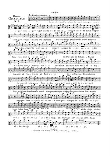 Benedicam Dominum, HV 55: Alto part by Joseph Eybler