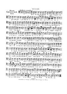Benedicam Dominum, HV 55: Tenor part by Joseph Eybler