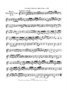 Benedicam Dominum, HV 55: Clarinet II part by Joseph Eybler