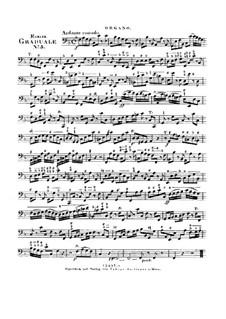 Benedicam Dominum, HV 55: Organ part by Joseph Eybler