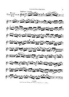 Benedicam Dominum, HV 55: Violin I part by Joseph Eybler