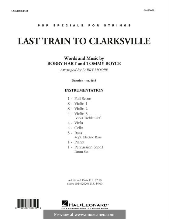 Last Train to Clarksville (The Monkees): Full Score by Bobby Hart, Tommy Boyce