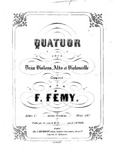 String Quartet in C Major: Violin I part by François Fémy