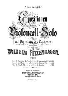 Capriccio for Cello and Piano, Op.40: Capriccio for Cello and Piano by Wilhelm Fitzenhagen