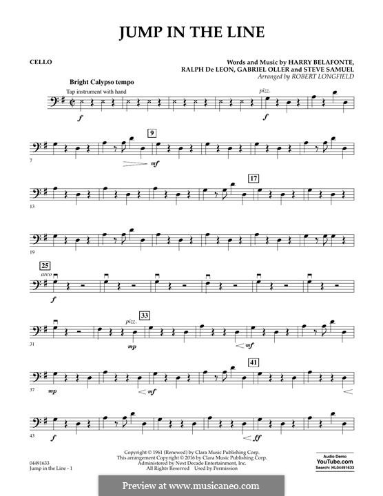 Jump in the Line (from Beetlejuice The Musical): Cello part by Rafael De Leon, Harry Belafonte, Gabriel Oller, Steve Samuel