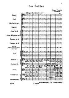 Les Éolides: Score by César Franck