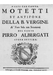 Motets and Antiphons for Voice, Strings and Organ, Op.7: Vocal part by Pirro Capacelli Conte Albergati