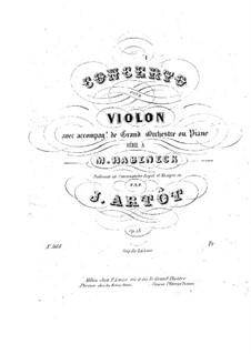 Violin Concerto in A Minor, Op.18: Arrangement for violin and piano – solo part by Alexandre Joseph Artôt